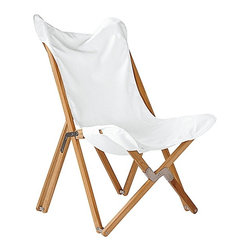 Serena & Lily - Butterfly Chair, White - Butterfly chairs are part of the collection of midcentury furniture that defines the signature Montauk style. This version is covered in weather-proof Sunbrella fabric, making it even more perfect for an outdoor summer lifestyle.