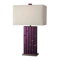 Dimond Lighting - Dimond Lighting D2162 Avalon Purple Mirror Table Lamp - Dimond Lighting D2162 Avalon Purple Mirror Contemporary Table Lamp