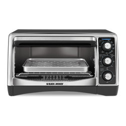 None - Black & Decker Black 6-slice Toaster Oven - Get the versatility of your traditional oven in one compact design with a countertop convection oven. With convection cooking,air circulates around food for better,more even results on all your baked oven favorites.