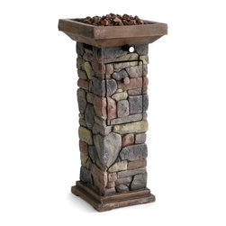 Red Ember - Red Ember Sheridan Mini Propane Fire Column Multicolor - 66860 - Shop for Fire Pits and Fireplaces from Hayneedle.com! Don't leave your guests out in the cold! Keep 'em warm at your next outdoor gathering with the Red Ember Sheridan Propane Mini Propane Fire Column. This convenient backyard-sized heater is made from a resin stone material and is topped with a generously-sized firebowl loaded with included lava rock for a diffused delicious glow. The party will keep going long into the night with 15 000 BTUs to keep things toasty. Control the size of your flame with the variable control knob. This mini heater is just the right size for standing around at 29.3 inches tall and has a stainless steel burner that resists corrosion for years of use Requires a 1-pound propane tank (not included). Dimensions: 12.1W x 12.1D x 29.1H inches. About Red EmberAt the center of any good outdoor gathering is a fire. At the center of a fire a Red Ember. We make fire products designed to bring people together. Red Ember products harness the age-old power of fire to comfort heat cook and enchant. Our experience and expertise in the industry allow us to provide added features and extras without burning a hole in your pocket. It's not about spending a lot of money - it's about lighting a fire. Get together and gather 'round a Red Ember.