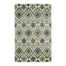 """Kaleen - Kaleen Global Inspirations Collection GLB04-50 3'6"""" x 5'6"""" Green - The Global Inspirations collection brings you beautiful motifs influenced by d_cor from all over the world. You no longer need to wander the streets of Europe or Asia looking for that hidden gem, our Global Inspirations collection found it for you!  Each rug is hand-tufted in India from 100% of the very finest wool, to achieve today's hottest worldly designs and patterns."""