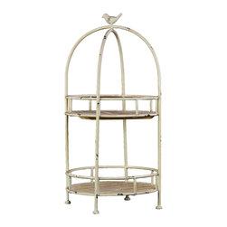 Wooden Metal Shelf Rack - Beige - *Wooden/Metal Shelf Rack Beige