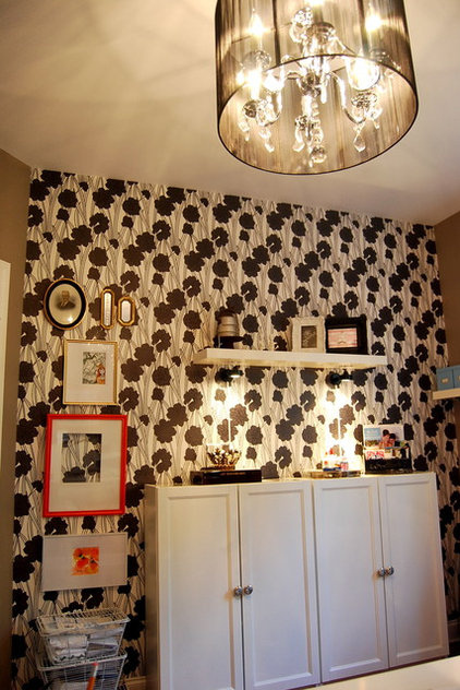 Contemporary Home Office by Nicole Lanteri Design