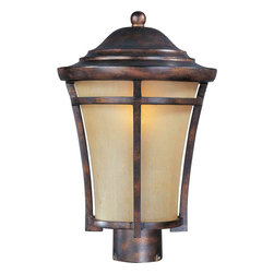 Maxim Lighting - Maxim Lighting 85160GFCO Balboa VX EE Copper Oxide Outdoor Post Light - 1 Bulb, Bulb Type: 18 Watt GU24 Fluorescent, Bulb Included