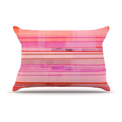 "Kess InHouse - CarolLynn Tice ""Starwberry Shortcake"" Pink Stripes Pillow Case, Standard (30"" x - This pillowcase, is just as bunny soft as the Kess InHouse duvet. It's made of microfiber velvety fleece. This machine washable fleece pillow case is the perfect accent to any duvet. Be your Bed's Curator."