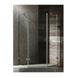 Vigo Industries - 42 in. Frameless Neo-Angle Clear Shower Enclosure - Vigo's exquisite taste and superior quality is reflected in this totally frame less neo-angle shower enclosure. Clear PVC side gasket installs vertically onto door to ensure a water-tight seal between door and side panel when the door is in the closed position.