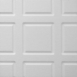 IDS Group - 2x2 White Decorative Ceiling Tiles, Minneapolis Design - Total Coverage: 32 SqFt (Box of 8)