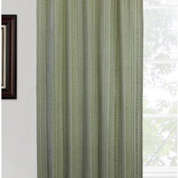 Vintage House by Park B. Smith - Dark Sage Weston Rod Window Panel - - Vintage house all natural 100% cotton thin seersucker vertical stripe offered in solid, chambray stripe 40 x 84-inch rod pocket top treatment. Dry clean only  - made in india  - items included in the set: one window panel Vintage House by Park B. Smith - WSTN4R-DSA