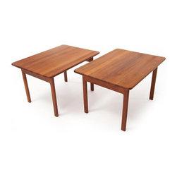 Vintage Danish Modern Teak End Tables -
