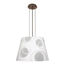 Besa Lighting - Besa Lighting   Amelia 18 Cable Pendant - Cable-hung pendant with handcrafted glass. Provides direct and diffused illumination. Ameila is available in three handcrafted finishes: