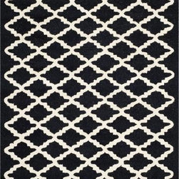 Safavieh - Safavieh Cambridge CAM137E 6' Round Black Rug - Bring classic style to your bedroom, living room, or home office with a richly-dimensional Safavieh Cambridge Rug. Artfully hand-tufted, these plush wool area rugs are crafted with plush and loop textures to highlight timeless motifs updated for today's homes in fashion colors.
