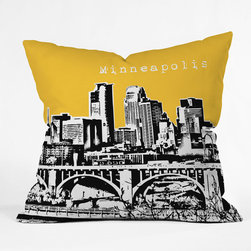"""DENY Designs - Bird Ave Polyester Minneapolis Indoor/Outdoor Throw Pillow - Do you hear that noise?It is your outdoor area begging for a facelift and what better way to turn up the chic than with DENY Designs Indoor/Outdoor Throw Pillows. Made from water and mildew proof woven polyester, our Indoor/Outdoor Throw Pillow is the perfect way to add some vibrance and character to your boring outdoor furniture while giving the rain a run for its money. Features: -Bird Ave collection. -Fabric: Water and mildew proof woven polyester. -Fill: Mildew resistant polyester fill. -Closure: Sealed. -Spot treatment with mild detergent. -Manufacturing: 6 color dye process, custom printed for every order. -Made in the USA. -Closure: Concealed zipper with bun insert. -Medium dimensions: 18"""" H x 18"""" W x 5"""" D. -Large dimensions: 20"""" H x 20"""" W x 6"""" D. -Product weight: 2 lbs."""
