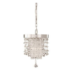 Uttermost - Uttermost 21849 Fascination 2 Light Crystal Mini Pendant - The classic appeal of crystal is updated for today's sophisticated tastes. Chrome plated rim adorned by various styles of crystal accents.