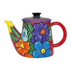 Westland - 7.5 Inch Multicolored Flower Decorated Kitchenware Teapot Carafe - This gorgeous 7.5 Inch Multicolored Flower Decorated Kitchenware Teapot Carafe has the finest details and highest quality you will find anywhere! 7.5 Inch Multicolored Flower Decorated Kitchenware Teapot Carafe is truly remarkable.
