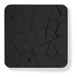 "KALKI'D - Water Absorbent Concrete Coaster (Dry Land, in Black) - Coasters are meant to help prevent nasty water stains on your expensive coffee table, and it makes perfect sense to ""invest"" in a little bit of extra money, after all, it is far cheaper to purchase coasters than a new coffee table, right? Assuming you are in the market for some cool coasters, what are your options? Those with a flair for design as well as practicality can look towards the Water Absorbent Concrete Coasters. A section of the side walk will meet your table top. Cracked but not discouraged these concrete coasters absorb drink condensation. The moisture sizzles into the seams as in a crafty disappearing act. Made with eco-friendly materials of non-toxic recycled ash and cement mix. Their cold demeanor adds contrast to the comforts of home, an unexpected yet welcomed element of imperfection. Good thing no lives were lost in the production of these coasters, and it is 100% eco-friendly while you are at it. Available in gray and black."