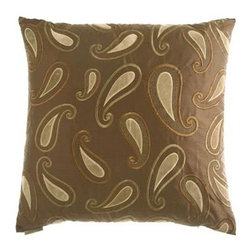 D.V. KAP Home - Terme Brown 24 x 24 Decorative Pillow - -24x24 zippered removable cover  -Comes with Feather/Down insert  -Spot or dry clean D.V. KAP Home - 2065-B