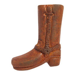 Cowboy Boot Iron Knob - For a more rustic look to your project, choose the stylish Cowboy Boot Knob. Made of cast iron, this fun knob will add the perfect touch to a western theme.