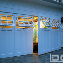 Coastal Custom Garage Door Conversion - Carriage Doors for Home Offices & Gyms - Coastal Custom Garage Door Conversions - Have you converted your garage door into a home office, a man cave or studio? You want to replace the roll-up or overhead garage door with something more functional that will keep your HOA and/or city ordinances happy?