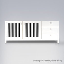 ducduc cabana credenza (3-wide) - Available with all doors, all drawers, or combination.
