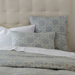 Organic Carved Circles Duvet Cover + Shams - Ethnic circles re-create the perfectly imperfect look of antique wood-block printing techniques on 200-thread-count organic cotton.