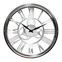 Infinity Instruments, Ltd. - Alexandria Clock - Infinity Instruments Alexandria is a skeleton see-through wall clock named after the great historical city of the same name. Alexandria is considered to be the birth place of the gear and was a perfect choice this this beautiful traditional wall clock.