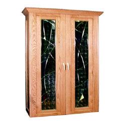 Vinotemp VINO-700LESOLEI Le Soleil 700 Model Wine Cabinet w/ 2 Glass Doors - 7296Vinotemp wine ...