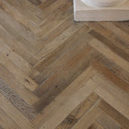 Antique French Oak Herringbone Wood Floor - A gorgeous antique oak in a herringbone pattern. We are attempting to create this feel in our own home, by using a classic herringbone pattern.