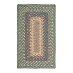 """Nourison - Nourison Craftwork KRA01 2'3"""" x 3'9"""" Spruce Area Rug 12634 - In cool hues of green, navy, peach, beige, brown and taupe, this casually chic braided rug conjures up images of a lovely lakeside bungalow for vacation-like vibe that lasts year round. Expertly crafted to last for years - even in halls and foyers."""