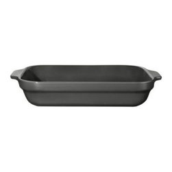 Emile Henry - Emile Henry 4 qt. Lasagna Dish - Slate Multicolor - 799632 - Shop for Baking & Roasting Dishes from Hayneedle.com! The new star of your kitchen this Emile Henry 4 qt. Lasagna Dish - Slate will command attention. It's handcrafted from local clay from Burgundy France and fired in a high heat-resistant oven. Its beauty comes from a deep slate gray color and translucent glaze that won't crack discolor or scratch. Not just for looks it has a smart shape and extra deep design you'll use every day. Lasagna comes out perfectly but that's just the beginning. You'll reach for this baking dish to whip up baked ziti homey casseroles sweet cinnamon rolls and more. It's built durable enough to stand up to the challenge this lasagna dish goes into the freezer oven microwave broiler and even the dishwasher. About Emile Henry Emile Henry was founded in 1850 and is located in Marcigny a small town tucked within the province of Burgundy France. It is still owned and operated by the Henry family. Over the generations Emile Henry has established a world-renowned reputation for creating the finest quality ceramic ovenware gourmet cooking products and exceptional bakeware products. Their products include baking dishes and cake stands. The discerning gourmand will recognize the quality in every loaf pan casserole dish stew pot handcrafted pie dish trivet tagine and brazier they create. Emile Henry manufacturers all of their cooking products from clay found in the Burgundy region. Burgundy is noted for their world-famous wines due in part to the mineral-rich limestone soil. It is this soil and clay that go into the special clay cookware crafting formulas that are the basis of all Emile Henry ceramic cookware products.