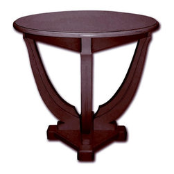 EuroLux Home - New Accent Table Dark Brown Painted Hardwood - Product Details