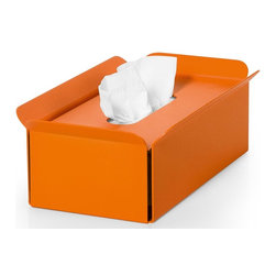 WS Bath Collections - Tissue Box in Orange - Modern/contemporary design. Designer high end quality. Warranty: One year. Made from powder coated aluminum. Made in Italy. No assembly required. 11 in. L x 6.3 in. W x 3.5 in. H (2 lbs.). Spec SheetUnique and fine bath accessories and complements, that provide inspirational solutions for every decor.