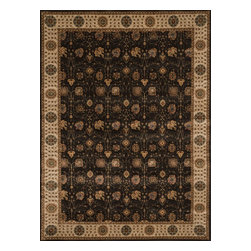 """Loloi Rugs - Loloi Rugs Stanley Collection - Expresso / Beige, 5'-2"""" x 7'-7"""" - The magnificent Stanley Collection features modern interpretations of the most sophisticated hand knotted designs. Recreated in Egypt with power loomed technology these gorgeous polypropylene area rugs offer an affordable alternative."""