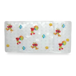 Ginsey - Ginsey Sesame Street Elmo Splish Splash Tub Mat - Elmo makes washing up a little more fun with this colorful vinyl bath mat. Designed for safety and comfort, it is made of sturdy non-slip vinyl and has skid-resistant suction cups on the back.