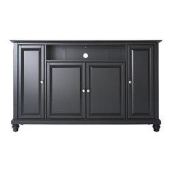 """Crosley - Cambridge 60"""" TV Stand - Dimensions: 18 x 59.8 x 34 inches"""