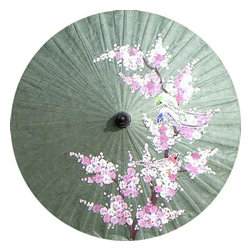 "Oriental-Décor - Love Birds, 28"" Diameter - This beautiful umbrella is hand crafted and hand painted, making a lovely and unique gift for anyone who appreciates Asian beauty."