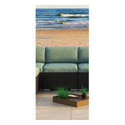 Urbana Modern Outdoor Sectional Middle, Spa Cushions