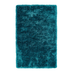 "Kaleen - Kaleen Posh Collection PSH01-91 2'3"" x 8' Teal - Posh is the perfect rug to make your feet say ooh and ahhh!! Super plush and silky to the touch, this hot new shag rug is exactly what your room has been asking for! Find the perfect spot to curl up on after a long day or bring in your favorite pop of color for a complete room makeover. The Posh collection allows for diversity and fashionable style for all of your decorating needs with over 20 colors to choose from. Each rug is handmade in China of the finest 100% polyester."