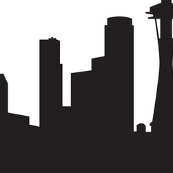 Seattle Skyline Wall Decal - Ideal for homes, kids rooms, coffee shops, and schools.