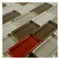 "Home Elements - Glass Mosaic Tile, 4""x4"" Sample - Product Description:"