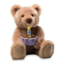 Enesco Llc - Gund Birthday Bear - This adorable birthday bear makes a perfect present for your child. Your child will smile and sing along as the bear sings happy birthday and the candle on his cake lights up. This animated plush bear is sure to become your little ones best friend.