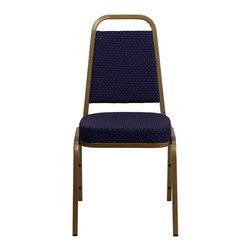 Flash Furniture - Flash Furniture Hercules Series Stacking Banquet Chair in Blue - Flash Furniture - Stacking Chairs - FDBHF1ALLGOLD0849NVYGG -This is one tough chair that will withstand the rigors of time. with a frame that will hold in excess of 500 lbs., the Hercules Series Banquet Chair is one of the strongest banquet chairs on the market. You can make use of banquet chairs for many kinds of occasions. This banquet chair can be used in Church, Banquet Halls, Wedding Ceremonies, Training Rooms, Conference Meetings, Hotels, Conventions, Schools and any other gathering for practical seating arrangements. The banquet chair is also great for home usage from small to large gatherings. For any environment that you use a banquet chair it will put your guests at a greater comfort level with the padded seat and back. Another advantage is the stacking capability that allows you to move the chairs out of the way when not in use. with offerings of comfort and durability, you can be assured that you can enjoy this stacking banquet chair for years to come. [FD-BHF-1-ALLGOLD-0849-NVY-GG]