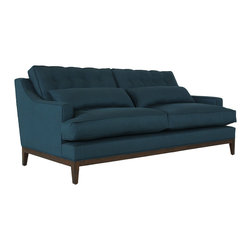 Jaxon Home - Alva Sofa - The Alva sits upon a solid wood frame and complete Trillium fill seating. A bounce and a plush one can always enjoy! With strong arms and comfortable seating - hand tufted accents add unique style to this modern piece.
