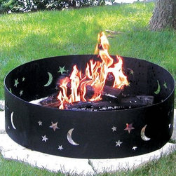 CobraCo Evening Sky Campfire Ring - Anywhere under the stars, the CobraCo Evening Sky Campfire Ring is ready to safely contain a fire. This easy travel fire ring breaks down into 4 next parts that are easy to pack and carry, and just as easy to put back together when you settle on a campsite. Built of steel with a cool cutout moon and stars design, this fire pit is built to last through travel and weather.About Woodstream and CobraCoA privately held company with a long-standing positive reputation, Woodstream is a global manufacturer and marketer of quality products from pets and wildlife control, and home and garden products, to bird feeders and garden decor. They have a 150-year history of excellence, growth, and innovation, and have built a strong presence in key markets through organic growth and strategic acquisitions.Most recently, Woodstream acquired CobraCo, which offers an extensive line of planters, baskets, flower boxes, and accessories. The growth of Woodstream is thanks to their customer-driven approach to product development, a dedicated design organization that focuses on innovation, quality, and safety, as well as a commitment to an industry-leading level of service.