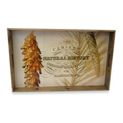 Tri Coastal Design - Natural History Vintage Lodge Medium Wooden Tray - The Natural History Vintage Lodge Wooden Tray is the perfect decorative detail to make any room into a rustic getaway. With an antique look, the medium sized tray is great to put on display in any room.