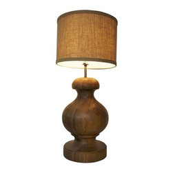 NOIR - NOIR Furniture - Adela Lamp in Dark Walnut - LAMP391SH - Adela Collection Lamp