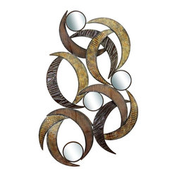 Benzara - Metal Mirror Wall Plaque Beautifully Sculptured 24in. High - METAL MIRROR WALL PLAQUE is an excellent anytime low priced wall decor upgrade option that is high in modern age decor fashion. It is beautifully sculptured by the experienced artists.