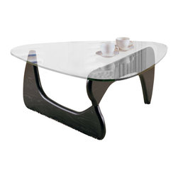 Homelegance - Homelegance Chorus Glass Top Cocktail Table in Black - Homelegance - Coffee Tables - 320530 - The Chorus Collection combines appealing style with functionality. The dramatic curves of the retro cool black table bases serve as the support for the unique shaped glass tops of the Chorus collection
