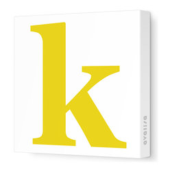 "Avalisa - Letter - Lower Case 'k' Stretched Wall Art, 18"" x 18"", Dark Yellow - Spell it out loud. These lowercase letters on stretched canvas would look wonderful in a nursery touting your little one's name, but don't stop there; they could work most anywhere in the home you'd like to add some playful text to the walls. Mix and match colors for a truly fun feel or stick to one color for a more uniform look."