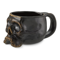 Halloween Skull Mug - If Williams-Sonoma is in on it, you know skull mugs are worthy of even the most haute of kitchens. I love the deep, rich color, and they look like they're right off of a pirate movie set.
