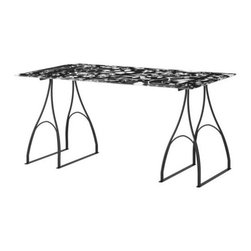Caroline Abild Jessen/Karl Malmvall - VIKA GLASHOLM/VIKA LINDVED Table - Table, glass, black